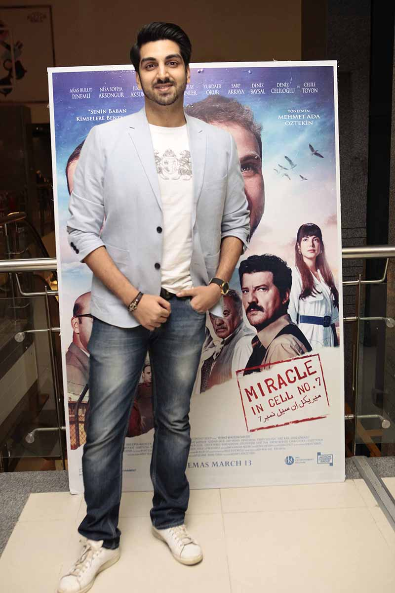 """The multi talented Shahroze Khan spotted at the exclusive screening of """"Miracle in cell no.7"""" which is scheduled to release on 13th March'20 (1)"""