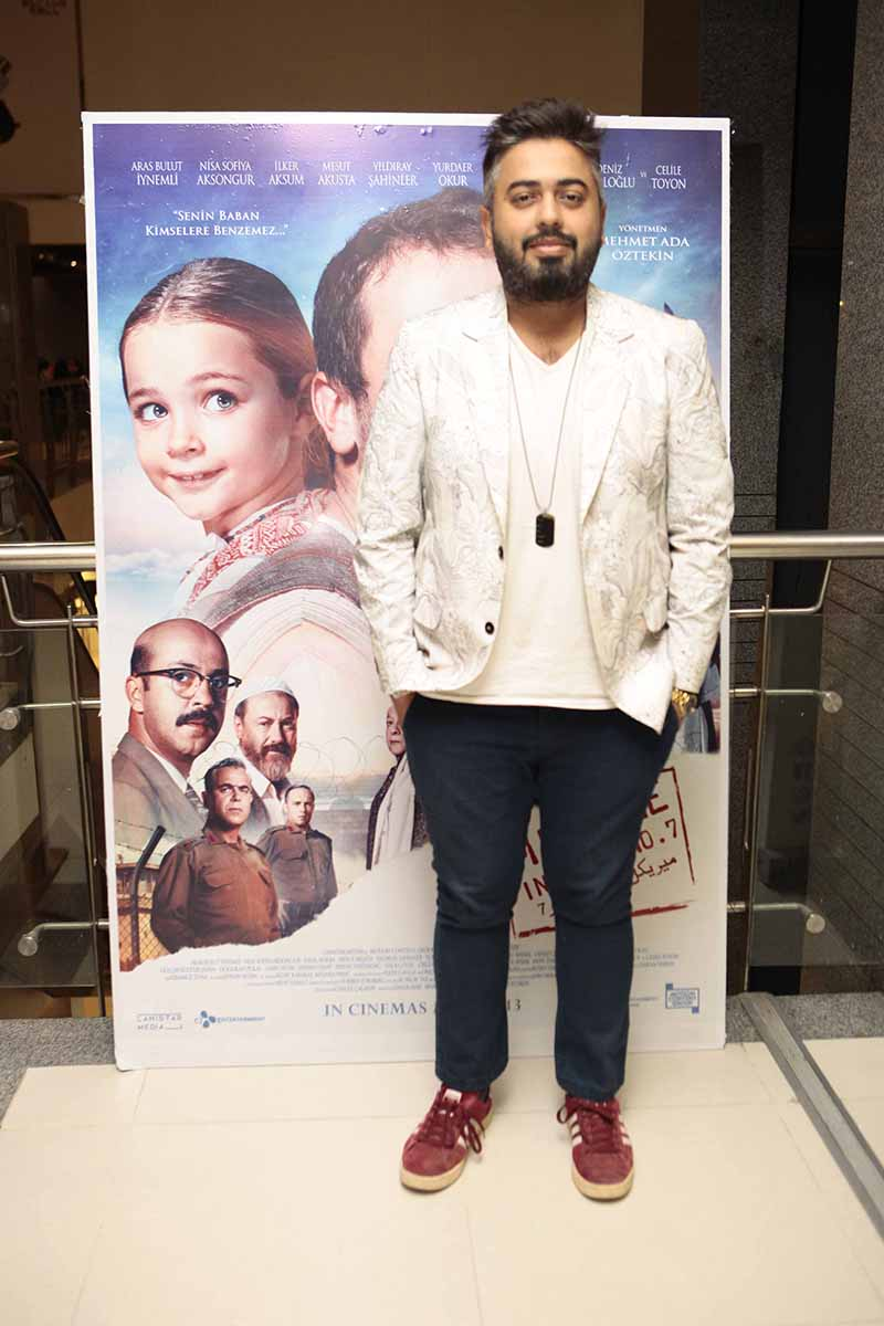 """Wajhi Farooki gracing the premiere of the Turkish film """"Miracle in cell no.7"""" set to release on the 13th of March'20"""