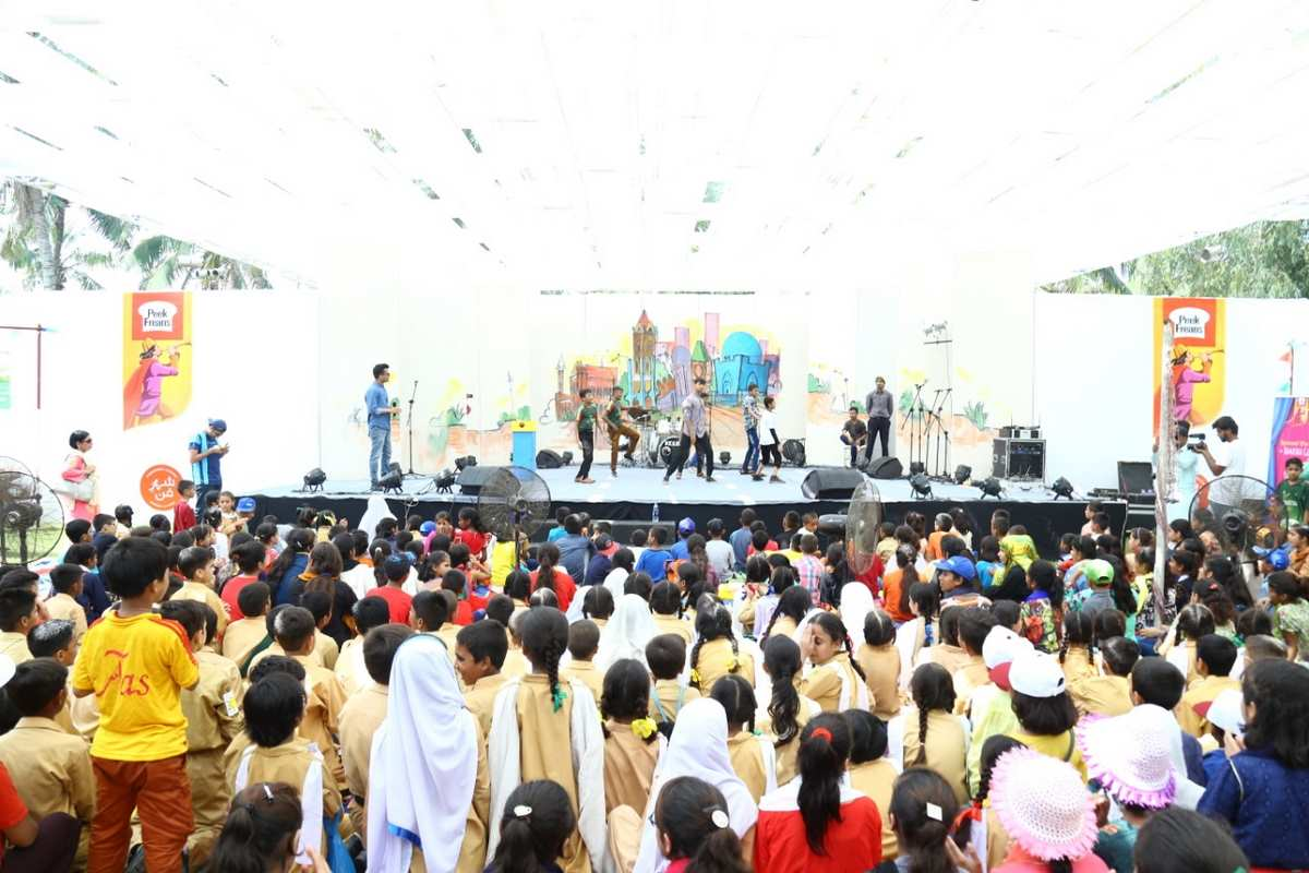 A stage performance at Sheher-e-funn by the school children