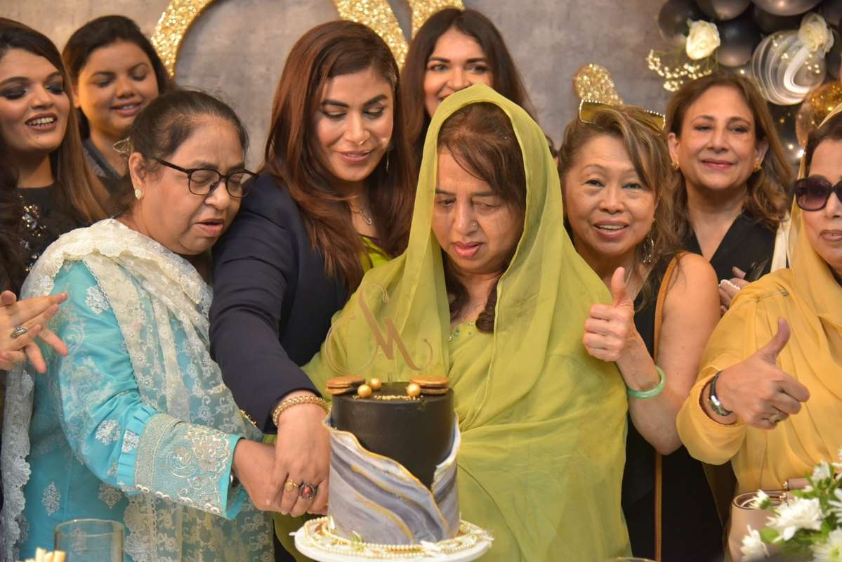 Mrs Rohana Iqbal graced the event with her presence at the launch of the salon