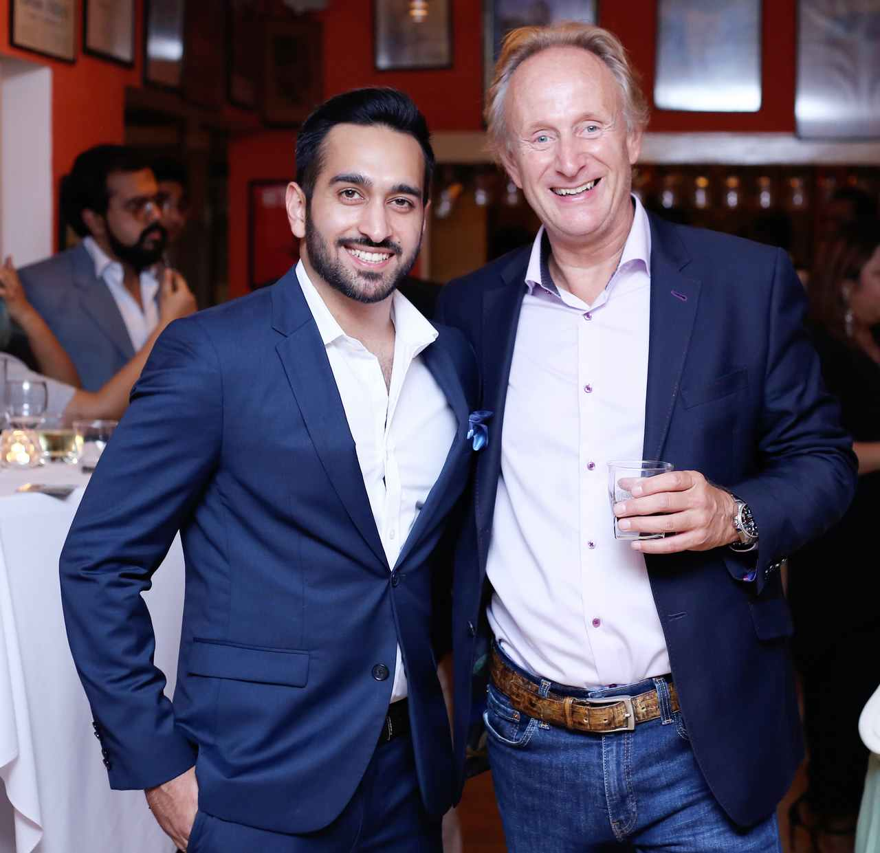 Faizan Majeed and Richard Sikkel were all smiles at the launch of Reviv's wellness therapy.