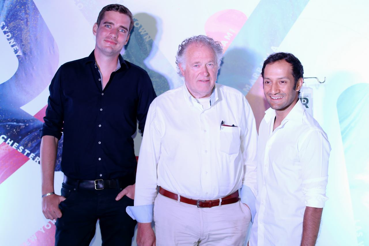 Vali Rangoonwala spotted at the Reviv launch event with his friends
